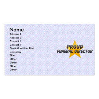 Director de funeraria orgulloso plantillas de tarjetas personales