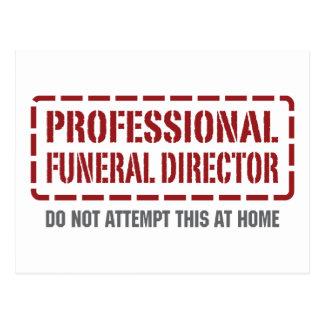 Director de funeraria profesional tarjeta postal
