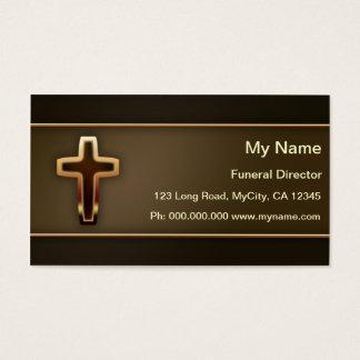 Director de funeraria tarjeta de negocios