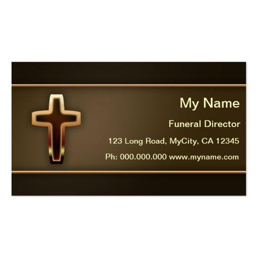 Director de funeraria tarjeta de negocio