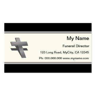 Director de funeraria plantillas de tarjeta de negocio