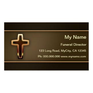Director de funeraria tarjetas de visita