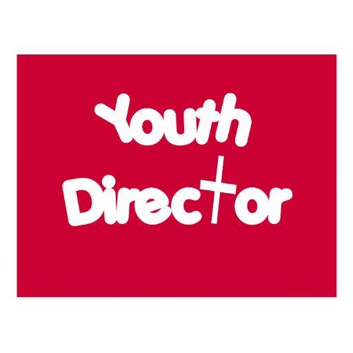 Director de la juventud postales