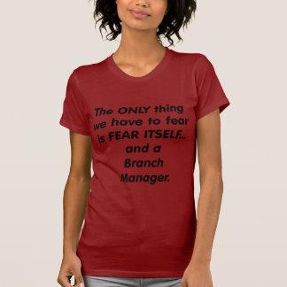 director de sucursal del miedo camisetas