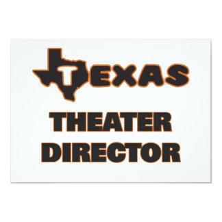 Director del teatro de Tejas Invitación 12,7 X 17,8 Cm
