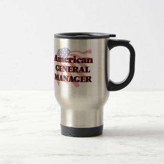 Director general americano taza de viaje de acero inoxidable