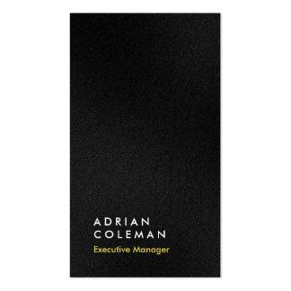 Director llano simple negro gris vertical del tarjetas de visita