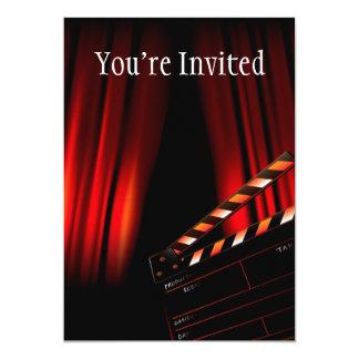 Director rojo de la tablilla de la cortina de la invitación 12,7 x 17,8 cm