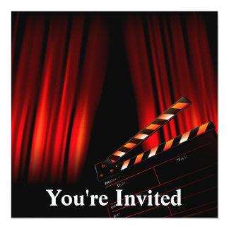 Director rojo de la tablilla de la cortina de la invitación 13,3 cm x 13,3cm