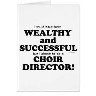 Director Wealthy del coro y acertado Tarjetón