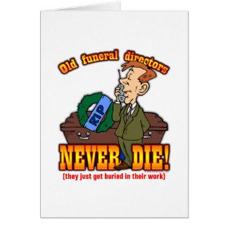 Directores de funeraria tarjeta de felicitación