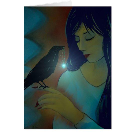 Discípulo de los cuervos tarjeta de felicitación