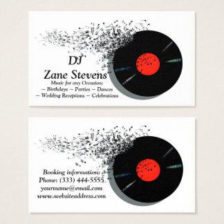 Disco de vinilo del disc jockey de DJ del disc Tarjeta De Visita