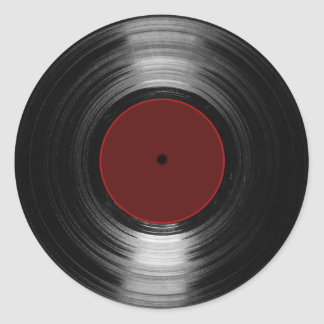 disco de vinilo pegatina redonda