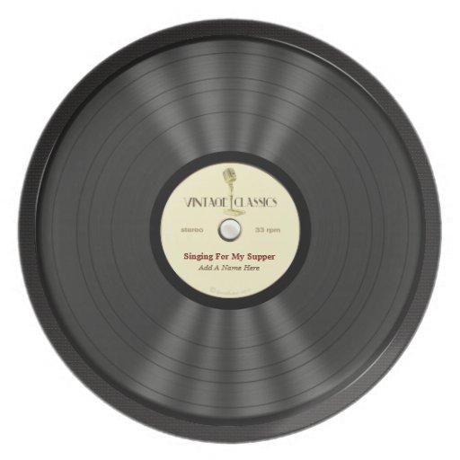 Disco de vinilo personalizado del micr fono del vi plato - Plato discos vinilo ...