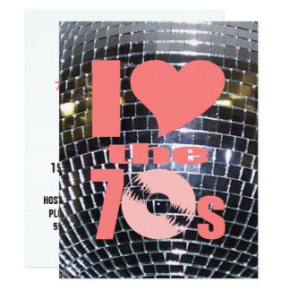 Disco de vinilo retro del fiesta de los años 70 invitación 10,8 x 13,9 cm