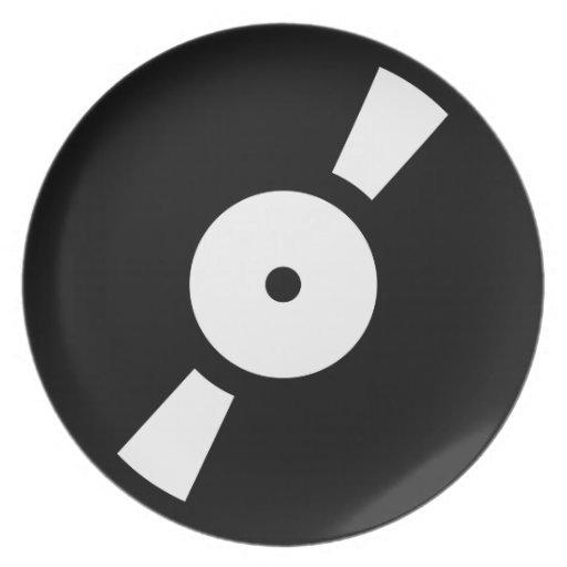 Disco de vinilo retro plato de cena zazzle - Plato discos vinilo ...