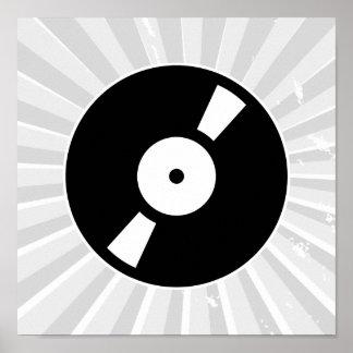 disco de vinilo retro poster