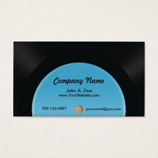 Disco de vinilo tarjeta de negocios