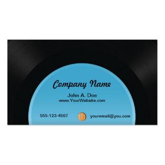 Disco de vinilo tarjetas de visita