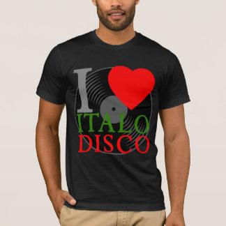 Disco retro de Italo del amor del tigre 80s I de Camiseta