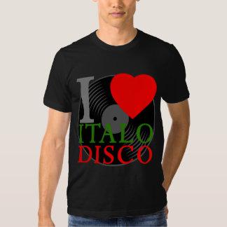 Disco retro de Italo del amor del tigre 80s I de Camisetas