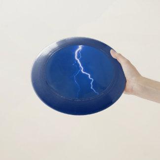 Disco volador azul del perno de la iluminación
