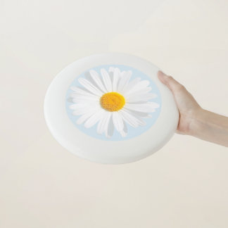 disco volador de la margarita blanca