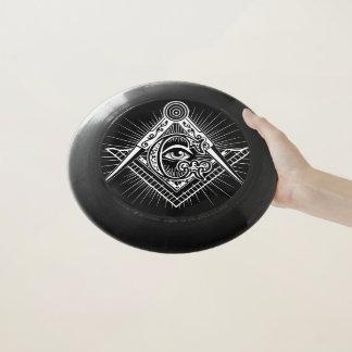 Disco volador del símbolo del Freemason
