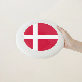Disco volador patriótico con la bandera de