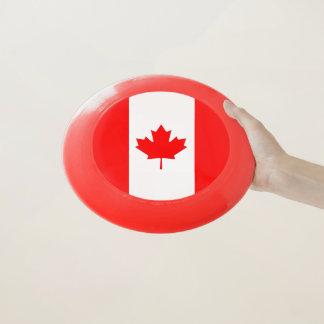 Disco volador patriótico con la bandera de Canadá