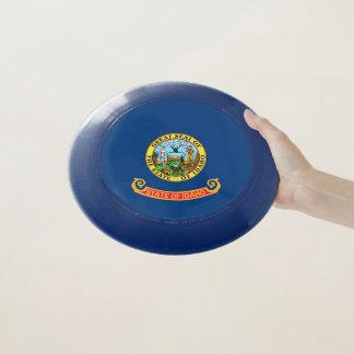 Disco volador patriótico con la bandera de Idaho