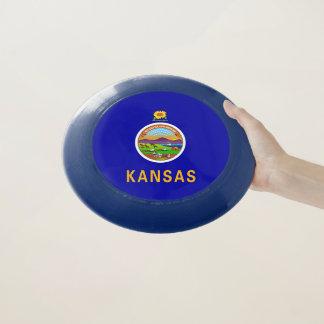 Disco volador patriótico con la bandera de Kansas