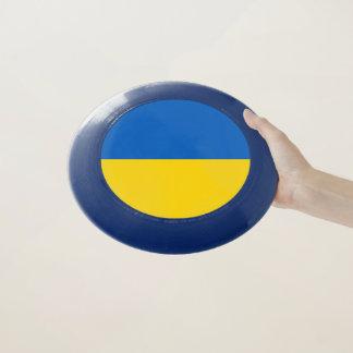 Disco volador patriótico con la bandera de Ucrania