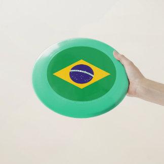Disco volador patriótico con la bandera del Brasil