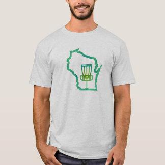 Disco Wisconsin - camiseta del golf del disco del
