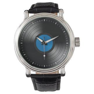 Discos de vinilo relojes de pulsera