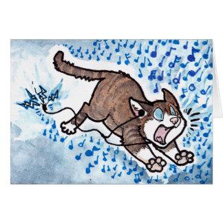 Disculpa del gato tarjeta de felicitación