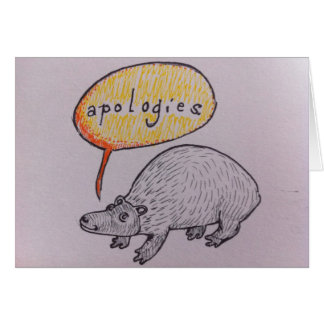 Disculpa linda del Critter Tarjeta De Felicitación