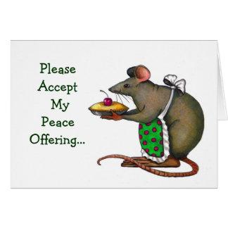 Disculpa: Ofrecimiento de paz: Señora Rat o ratón, Tarjeta De Felicitación