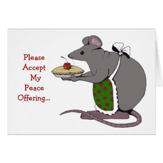 Disculpa: Triste: Ofrecimiento de paz: Ratón, Tarjeta De Felicitación