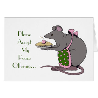 Disculpa: Triste: Ofrecimiento de paz: Señora Rat: Tarjeta De Felicitación