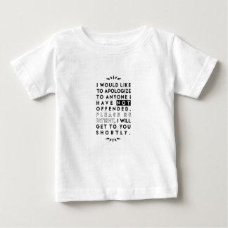 discúlpese camiseta de bebé