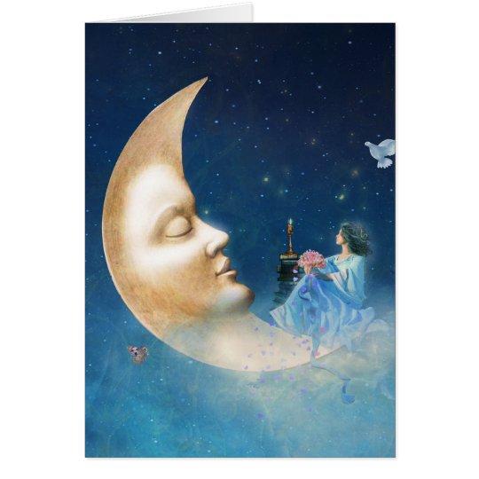 Discusión con la tarjeta de la luna