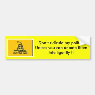 Discusión político etiqueta de parachoque