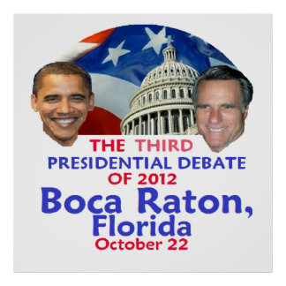 Discusión presidencial posters
