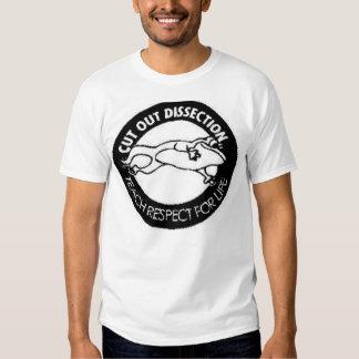 Disección cortada camiseta