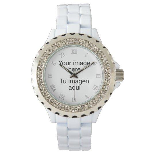 Diseña reloj en plantilla en blanco de fotos