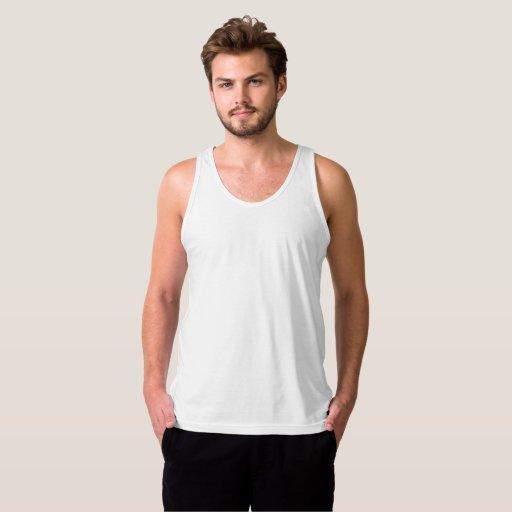 Camiseta sin mangas de Jersey para hombre, Blanco
