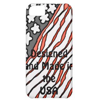 Diseñado y hecho en los E.E.U.U. Funda iPhone 5C